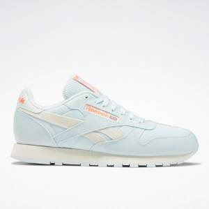 Reebok Unisex Classic Leather Running Shoes in Chalk Blue