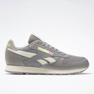 Reebok Unisex Classic Leather Running Shoes in Grey