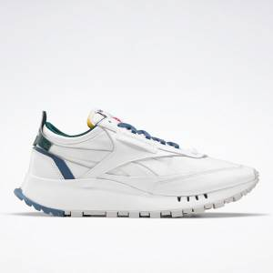 Reebok Unisex Classic Leather Legacy Lifestyle Shoes in White / Blue