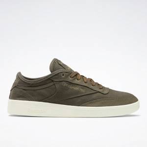 Reebok Unisex Club C C&C Court Shoes in Army Green