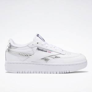 Reebok Club C Double Women's Court Shoes in White / Silver