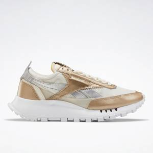 Reebok Classic Leather Legacy Women's Lifestyle Shoes in Gold / White