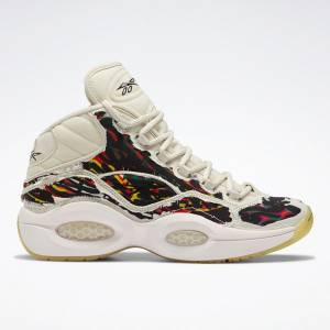 Reebok Men's Question Mid Boktober Basketball Shoes in White Alabaster