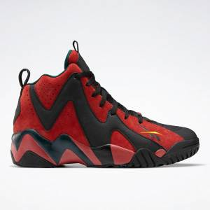 Reebok Men's Kamikaze II Basketball Shoes in Red / Black