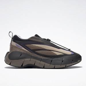 Reebok x Cottweiler Unisex Zig 3D Storm Hydro Lifestyle Shoes in Black / Beige
