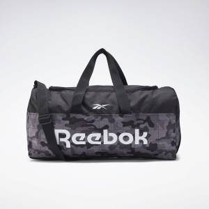 Reebok Unisex Training Active Core Grip Duffel Bag in Black / Camo