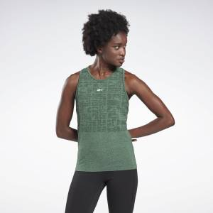Reebok LES MILLS® Myoknit Seamless Women's Studio Tank Top in Green