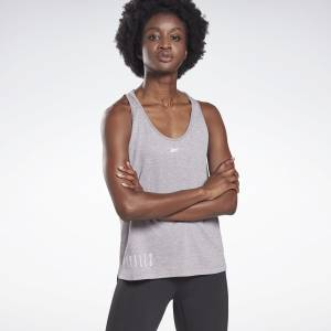 Reebok LES MILLS® ACTIVCHILL+COTTON Women's Studio Tank Top in Grey