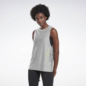 Reebok LES MILLS® Women's Studio Muscle Tank Top in Grey