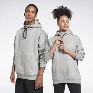 Reebok Unisex LES MILLS® Studio Pullover Hoodie in Grey