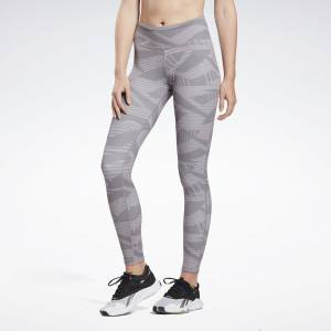 Reebok LES MILLS® Lux Bold Women's Studio Tights 2.0 - AOP in Grey