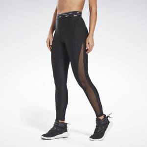 Reebok Women's Studio Mesh Leggings in Black