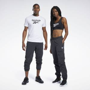 Reebok Unisex Classics Vector Track Pants in Black