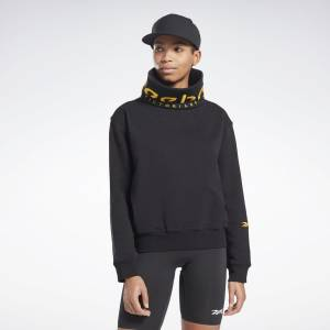Reebok VB Women's Training Cowl Sweatshirt in Black