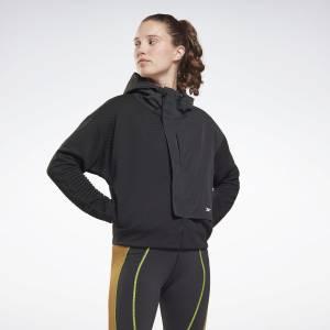 Reebok Women's Training Thermowarm+Graphene Zip-Up Jacket in Black