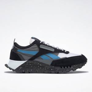 Reebok Unisex Classic Leather Legacy Lifestyle Shoes in Black / Grey
