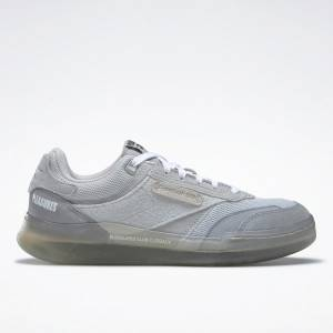 Reebok Unisex PLEASURES Club C Legacy Lifestyle Shoes in Grey