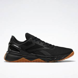 Reebok Men's Nanoflex TR Cross Training Shoes in Core Black / Gum