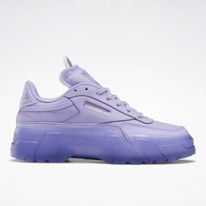 Reebok x Cardi B Club C Women's Lifestyle Shoes in Crisp Purple