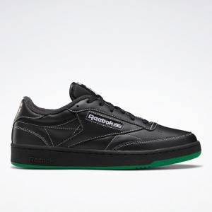 Reebok Unisex Human Rights Now! Club C 85 Lifestyle Shoes in Black