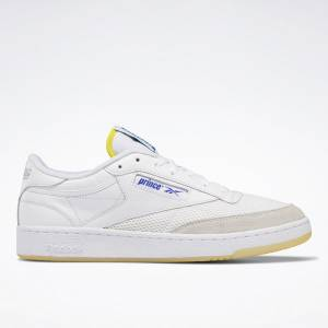 Reebok Unisex Prince Club C 85 Lifestyle Shoes in White