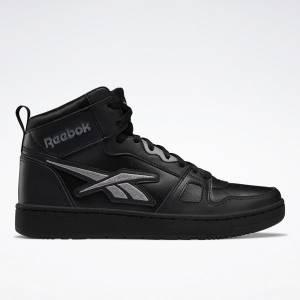 Reebok Unisex Resonator Mid Basketball Shoes in Black