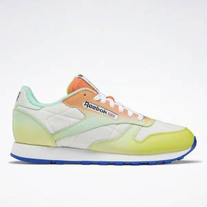 Reebok Unisex Daniel Moon Classic Leather Lifestyle Shoes in White / Yellow