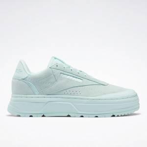 Reebok Club C Double GEO Women's Lifestyle Shoes in Mist Green