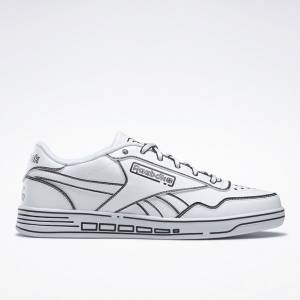 Reebok Women's Club MEMT Court Shoes in White / Black
