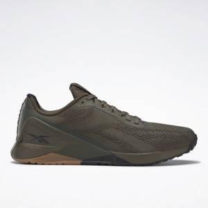 Reebok Nano X1 Men's Training Shoes in Army Green