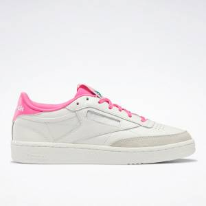 Reebok Club C 85 Women's Lifestyle Shoes in White / Pink