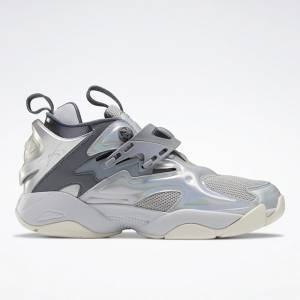 Reebok Unisex Juun.J Pump Court Shoes in Cold Grey
