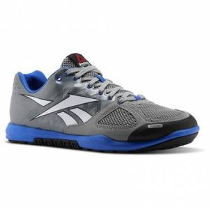 Reebok CrossFit Nano 2.0 Men's Training Shoes in Flat Grey / White / Vital Blue / Black