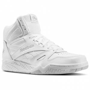 Reebok Royal BB4500 X-Wide 4E Men's Basketball Shoes in White / Steel