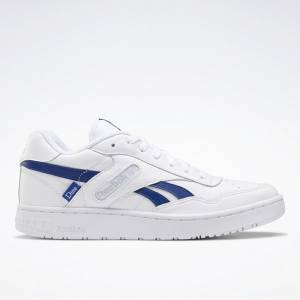 Reebok Unisex Dime BB4000 Basketball Shoes in White / Blue