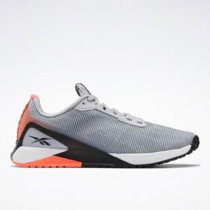 Reebok Nano X1 Women's Grit Cross, HIIT Training Shoes in Grey / Orange