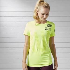 Reebok Running ACTIVCHILL Tee Women's Running T-Shirt in Solar Yellow