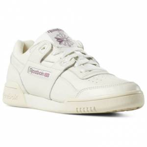 Reebok Women's Casual Shoes Workout Lo Plus in Chalk