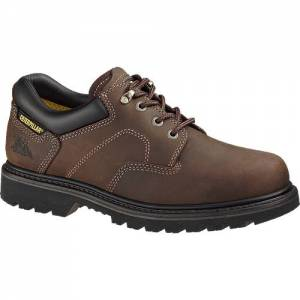 CAT Ridgemont Work Shoe - Men - Dark Brown
