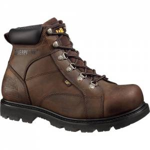 "CAT Mortar 6"" Steel Toe Work Boot - Men - Dark Brown"