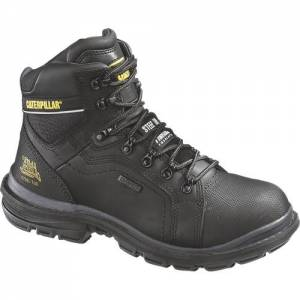 "CAT Flexion Manifold 6"" Waterproof Steel Toe Tough Work Boot - Men - Black"