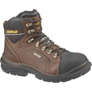 "CAT Flexion Manifold 6"" Waterproof Steel Toe Tough Work Boot - Men - Oak"