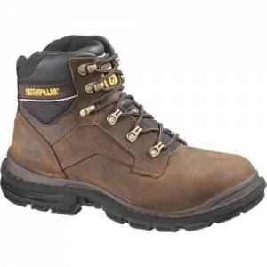 "CAT Flexion Generator 6"" Work Boot - Men - Dark Brown"