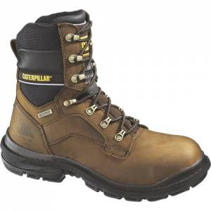 "CAT Flexion Generator 8"" Waterproof Steel Toe Work Boot - Men - Dark Brown"