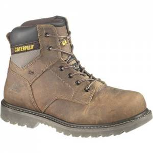 CAT Gunnison Steel Toe Work Boot - Men - Dark Beige