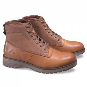 CAT Gil Canvas Waterproof Boot - Men - Dark Beige