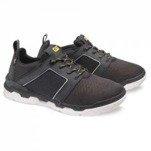 CAT Satz Mesh Shoe - Men - Black / Cat Yellow