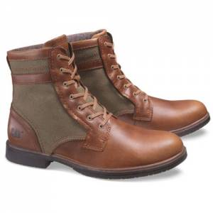 CAT Abe Canvas II Boot - Men - Brown Sugar / Olive