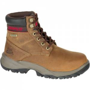 "CAT Dryverse 6"" Waterproof Work Boot - Women - Dark Beige"