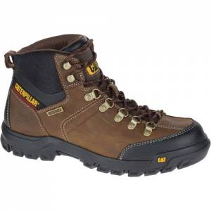 CAT Threshold Waterproof Work Boot - Men - Real Brown